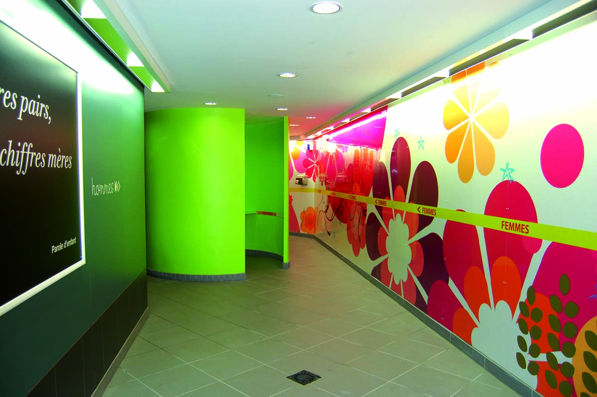 Wall cladding HPL sanitary installation