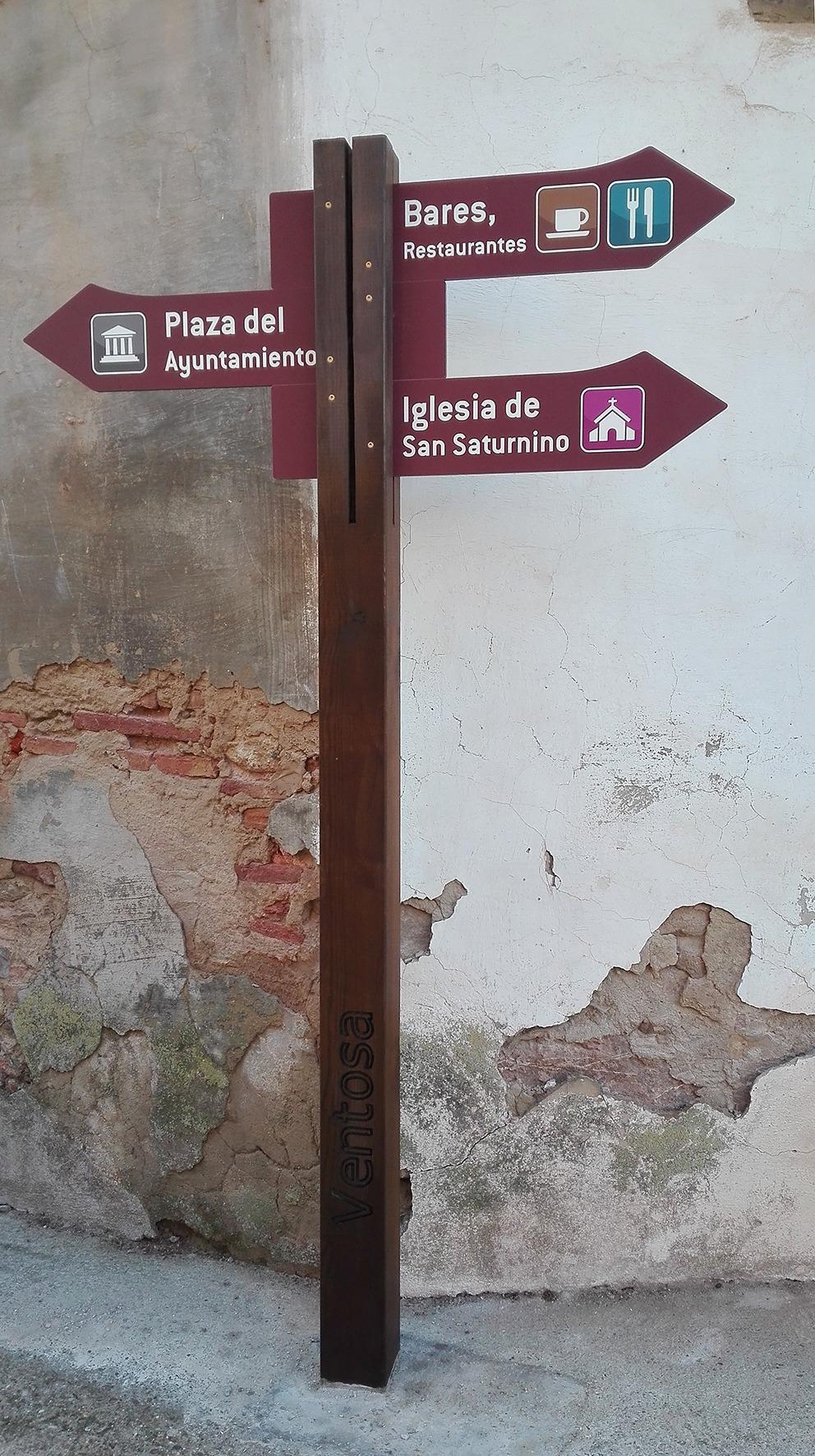 durable anti-Uv arrow signage