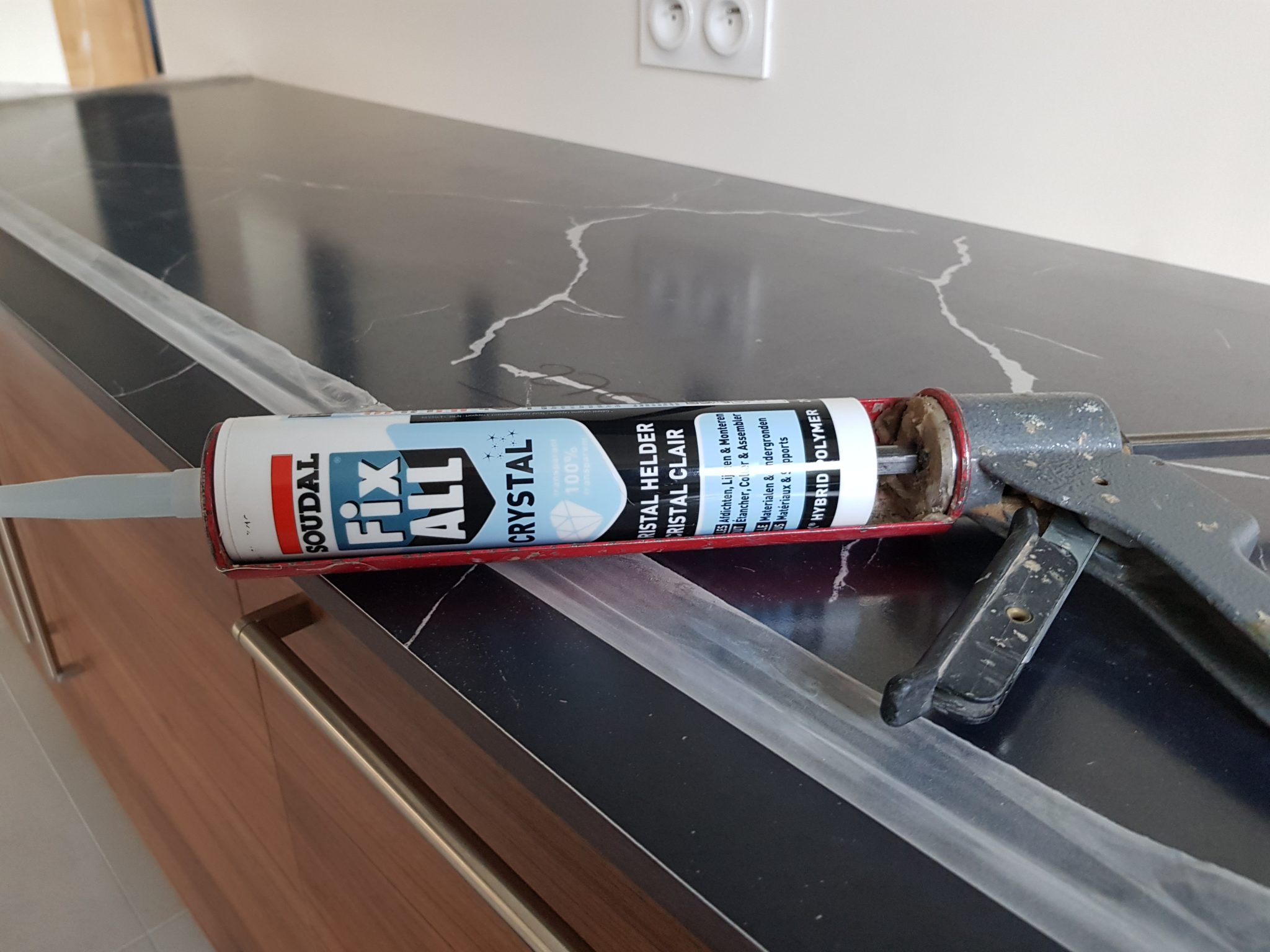 HPL kitchen table top glued